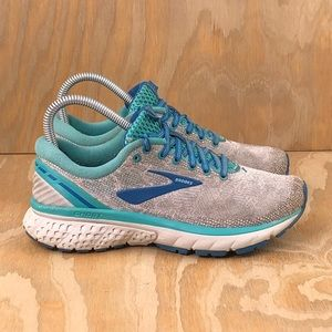 Brooks Ghost 11 Running Grey Aqua